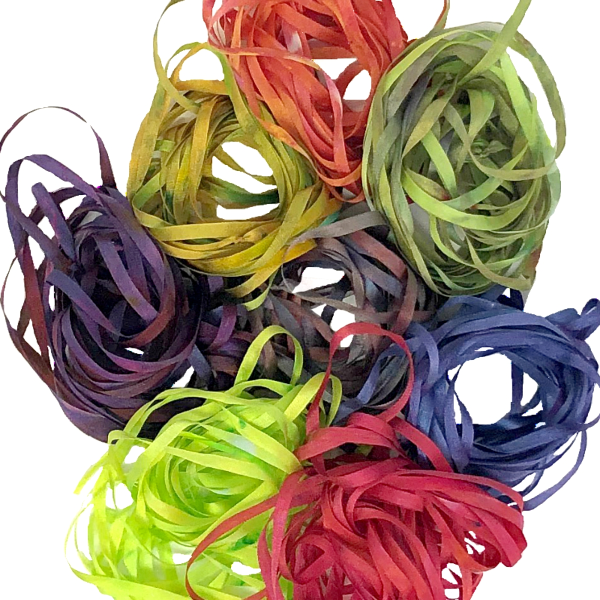 4mm Silk Ribbon Hand Dyed