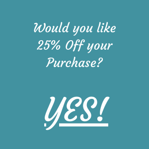 discount coupon code, 25 percent off