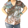 Cotton tee shirt, t-shirt, hand-dyed clothing, hand-dyed t-shirt, hand-dyed tee
